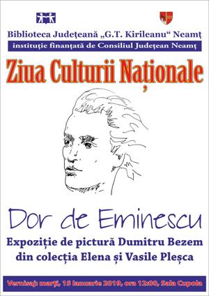 Multiple activități pentru sărbătorirea Zilei Culturii Naționale, la Biblioteca Județeană Neamţ